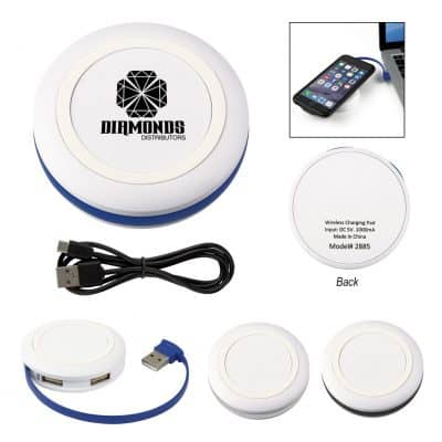 Power-Up Wireless Charging Pad & USB Hub