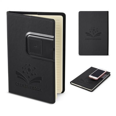 Refillable Journal w/Wireless Charging Panel