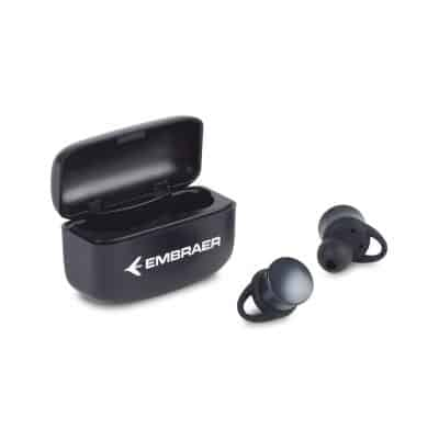 Orbit TWS Earbud w/ Wireless Charging Case - Black