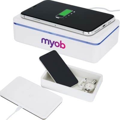 15W Wireless Charger & UV Cleaning Box