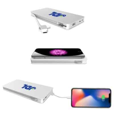 The Trio Power Bank Wireless Charging Pad with 3-in-1 Cable