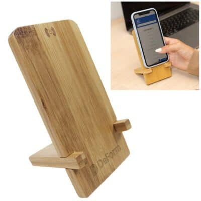 Bamboo Wireless Charger Phone Stand