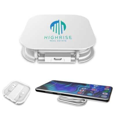Wireless Charging Pad w/Cable Organizer